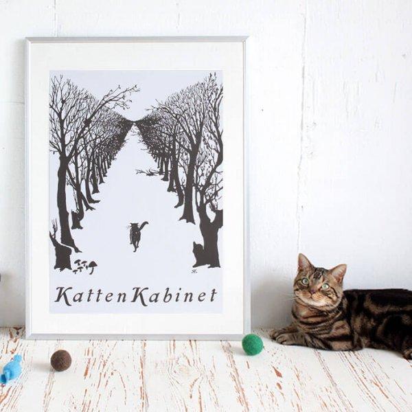 猫ポスター[ひとり歩く猫]おしゃれなインテリアアート9