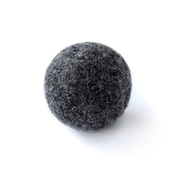 猫おもちゃ[ころころフェルトボール]単品|ブラック