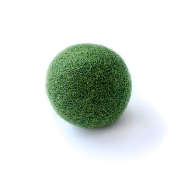 猫おもちゃ[ころころフェルトボール]単品|グリーン