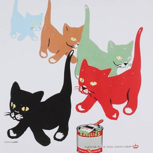 猫ポスター[サドリンペイント]おしゃれなインテリアアート13
