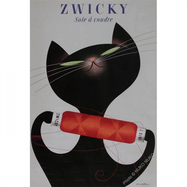 猫ポスター[ツヴィッキー猫]おしゃれなインテリアアート15