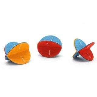 猫のおもちゃ[フェルトローラー]3個セット(オレンジ・イエロー・ブルー)|Hauspanther