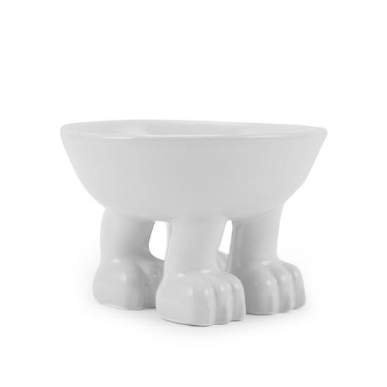猫フードボウル・食器[食べやすい高さの猫脚付き(陶器製)]子猫用|小型犬OK