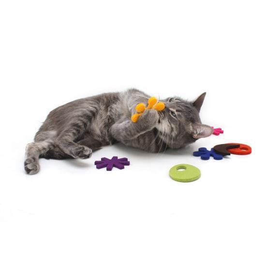 猫おもちゃ[アトミックフライヤー]フェルト+キャットニップ (カリビアン)