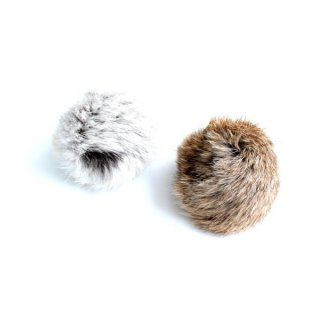猫おもちゃ[マックス]天然ファーのボール