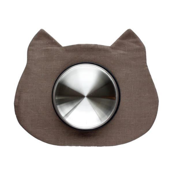 猫のフードマット(ランチョンマット)|チャコールグレー