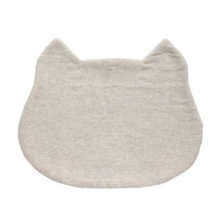 猫のフードマット(ランチョンマット)|生成り