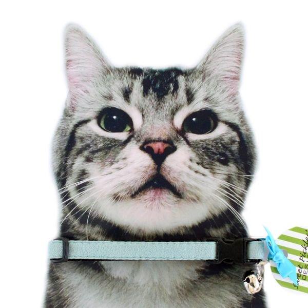 猫の首輪[Luxe]キャットカラー|ウルトラスエード|スカイブルー