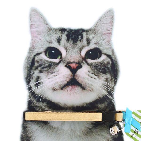 猫の首輪[Luxe]キャットカラー|ウルトラスエード|バタークリームイエロー