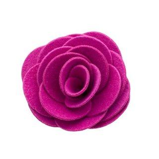 猫のコサージュ・首飾り[ウルトラスエード]ピンク