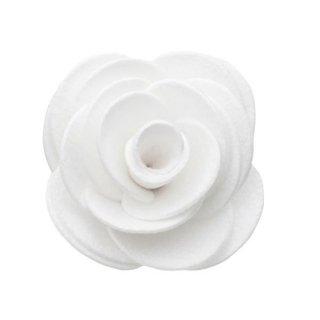 猫のコサージュ・首飾り[ウルトラスエード]ホワイト