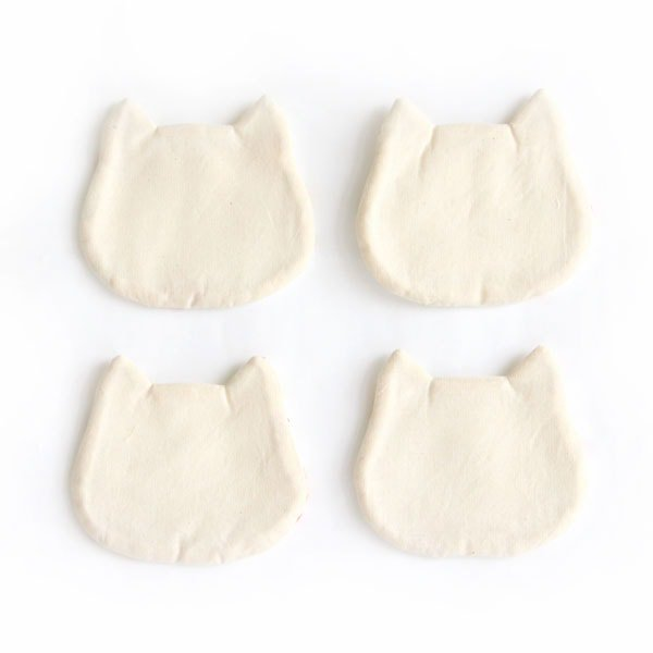 猫コースター[フローラル(インディゴ)]2ピース/4ピース