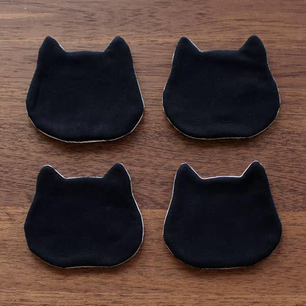 猫コースター[オフ・ブラック]2ピース/4ピース