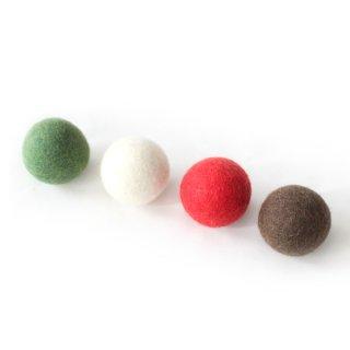 猫おもちゃ[ころころフェルトボール]4ピース|イタリアン