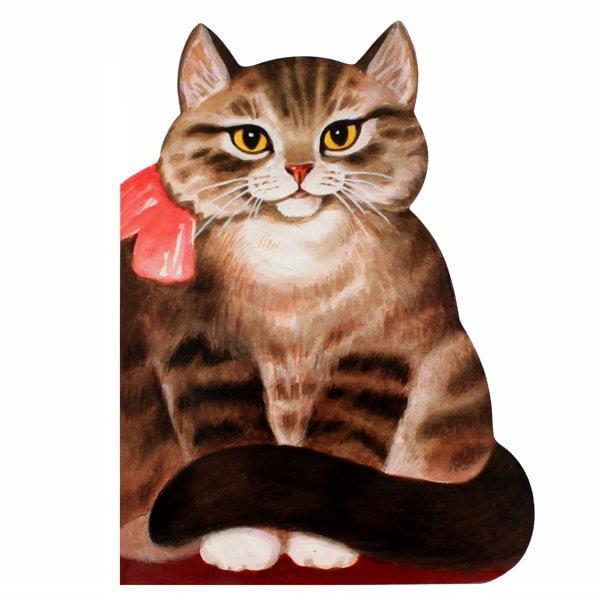 猫の絵本[子猫-猫(Котик-коток)]ロシア童話民謡詩|型抜き絵本