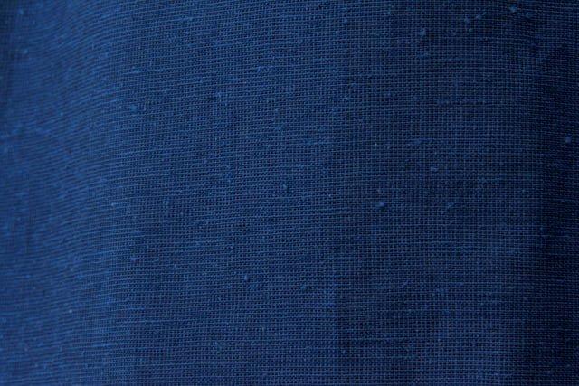 うなぎの寝床 久留米絣もんぺ 無地  厚手【ブルー】  送料無料
