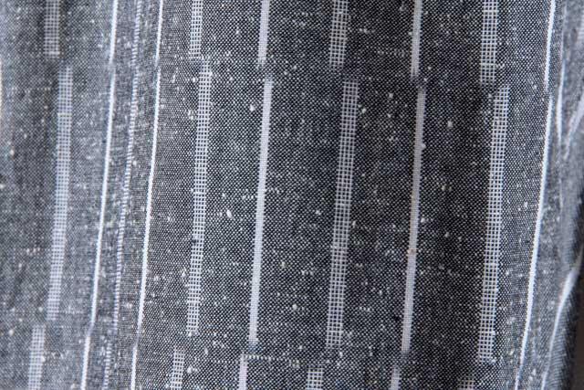 うなぎの寝床 久留米絣もんぺ ずらしストライプ【グレイ】 厚手生地  送料無料