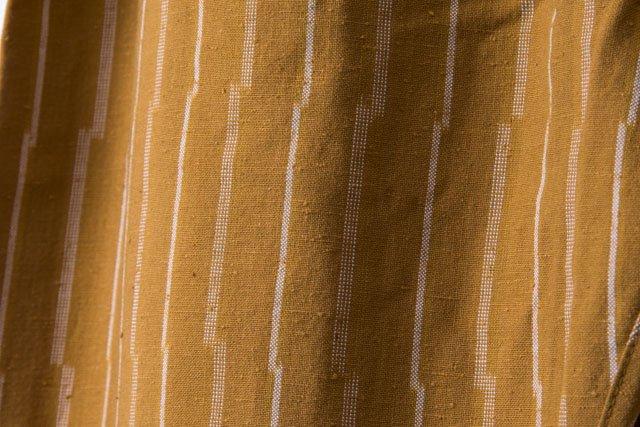 うなぎの寝床 久留米絣もんぺ ずらしストライプ【ベージュ】 厚手生地  送料無料