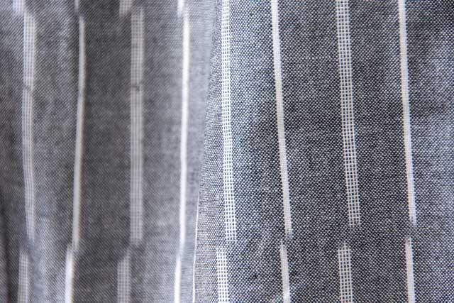 うなぎの寝床 久留米絣もんぺ ずらしストライプ【グレイ】 薄手生地  送料無料