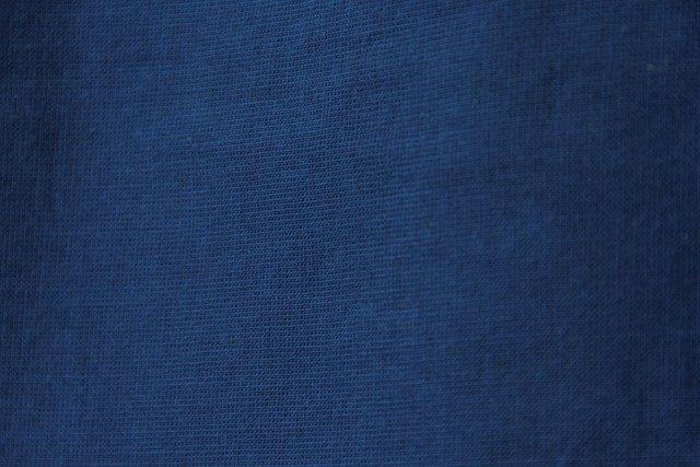 うなぎの寝床 久留米絣もんぺ 無地 薄手【ブルー】 送料無料