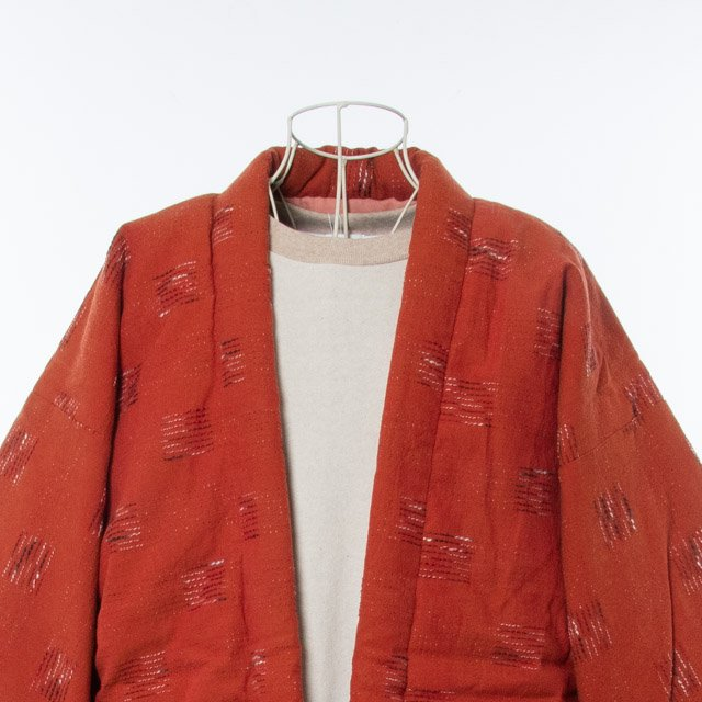 宮田織物 綿入れはんてん 飛びスラブ袢天(とびすらぶはんてん)レンガ 男女共用