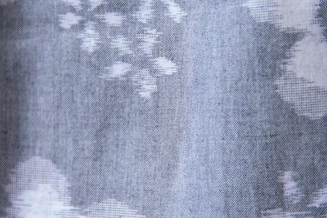うなぎの寝床 久留米絣もんぺ 花柄 薄手【グレイ】 送料無料