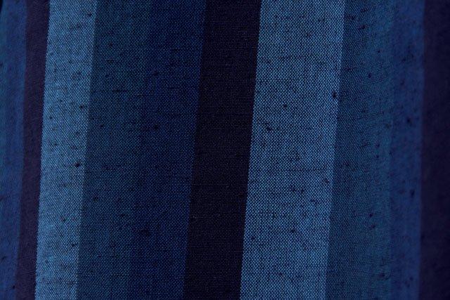 うなぎの寝床 久留米絣もんぺ カツオ縞 中厚手【ネイビー】 送料無料