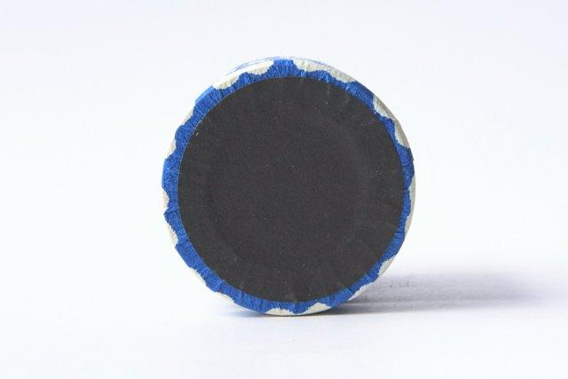 八尾和紙 桂樹舎 ペン立て大 まゆ柄青