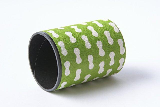 八尾和紙 桂樹舎 ペン立て大 まゆ柄緑