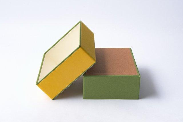 八尾和紙 桂樹舎 はがき箱 鈴玉黄