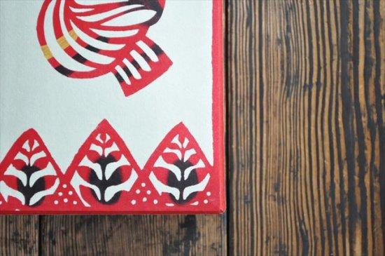 八尾和紙 桂樹舎 はがき箱 木鳥赤