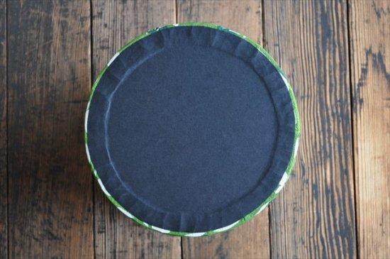八尾和紙 桂樹舎 小物BOXつぼみ模様緑
