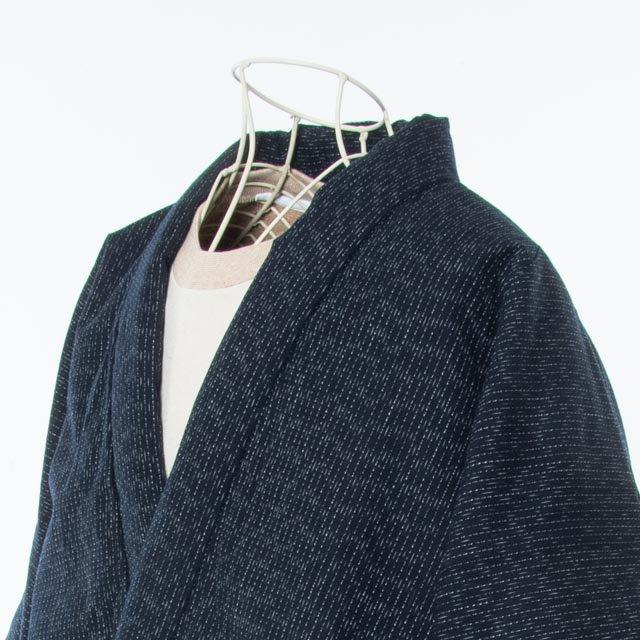 宮田織物 綿入れはんてん 四つ紐ラグランはんてん 紺 男女共用