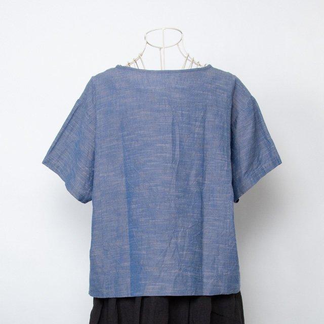 ヤンマ産業 会津木綿Tシャツ 銀青 ASD-SH