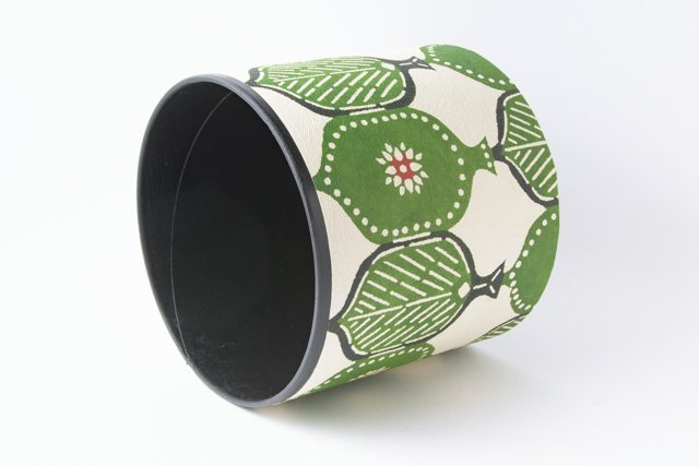 八尾和紙 桂樹舎 小物BOX木の葉緑