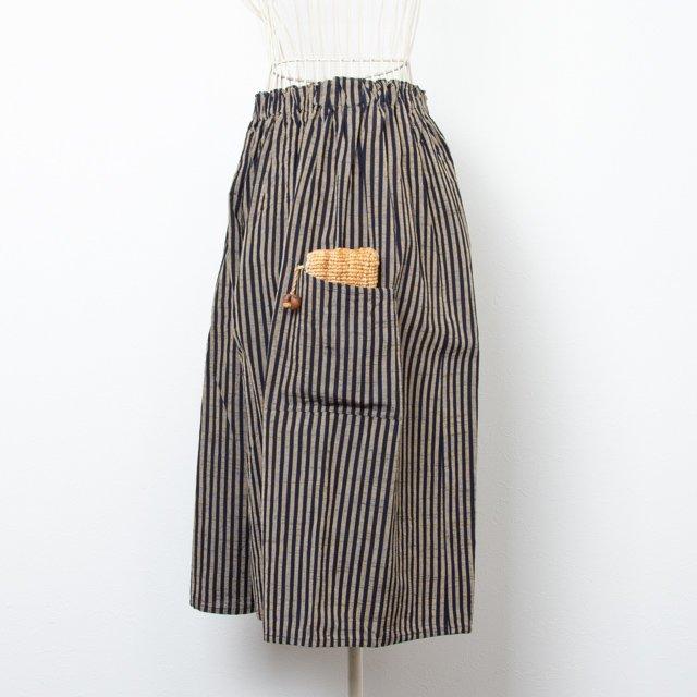 ヤンマ産業 会津木綿 キュロットパンツ 棒縞 ノーマル丈 ACR-PT-K01 YAMMA