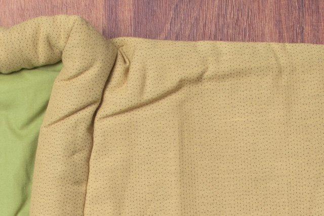 宮田織物 綿入れはんてん 夜滝ロングやっこ からし