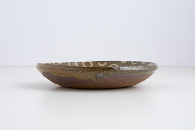 齊藤十郎 象嵌 六寸皿4 約19×3cm juro pottery
