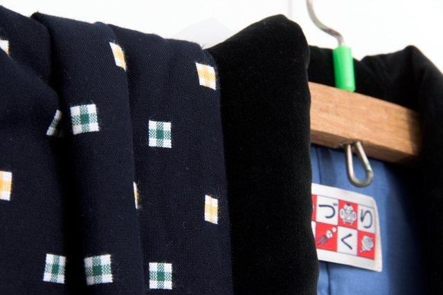 宮田織物 綿入れはんてん 半纏 子供袢天 濃紺 120cm