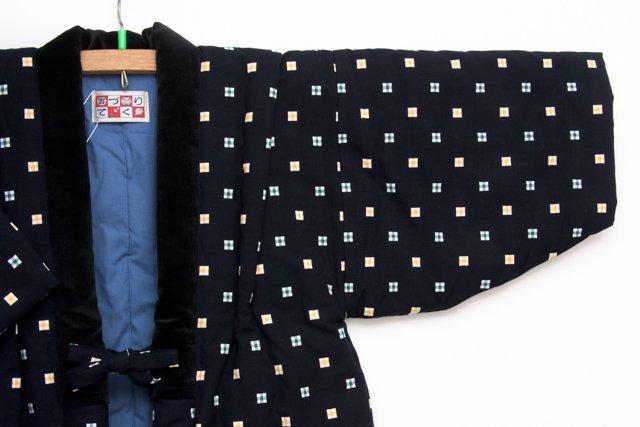 宮田織物 綿入れはんてん 半纏 子供袢天 濃紺 110cm