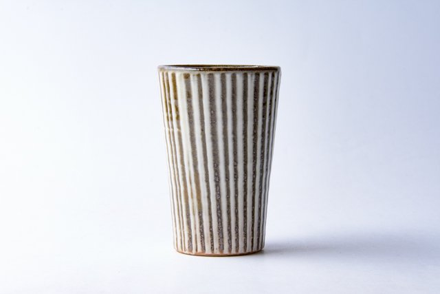 小石原焼 鬼丸豊喜窯 刷毛目フリーカップ