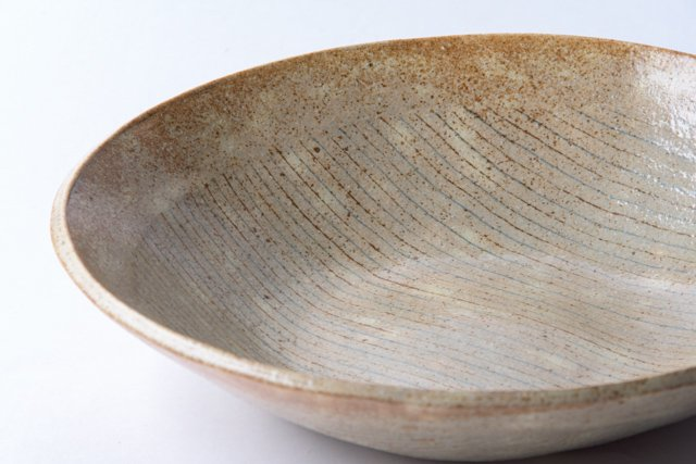 牧谷窯 杉本義訓 練り込み八.五寸皿01 大皿