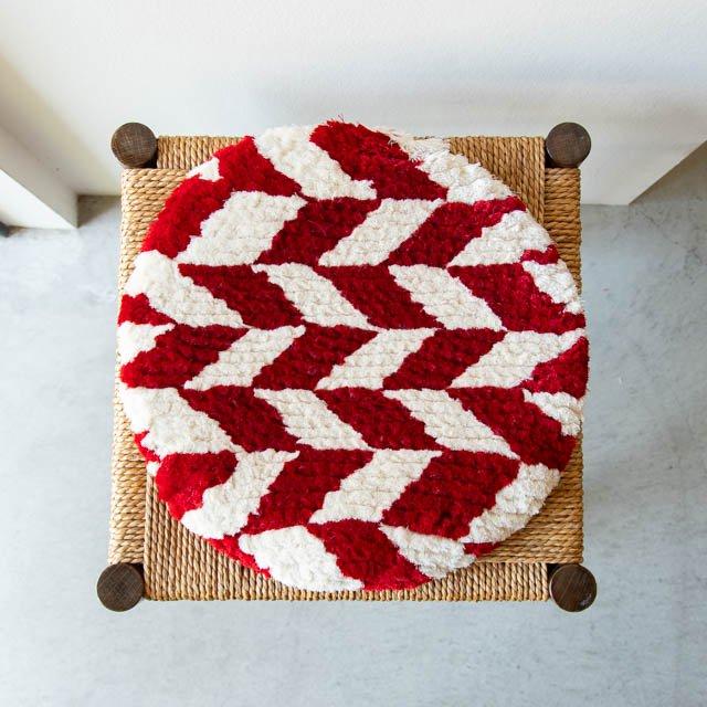 ノッティング織 椅子敷き 丸 大 04