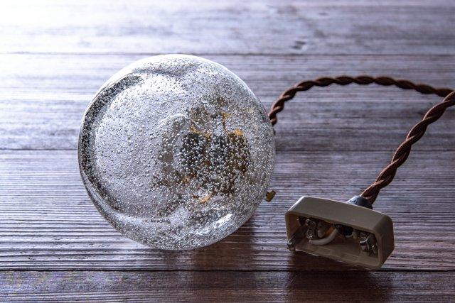 安土草多 吹きガラス ペンダントライト 球 泡 az-l04a