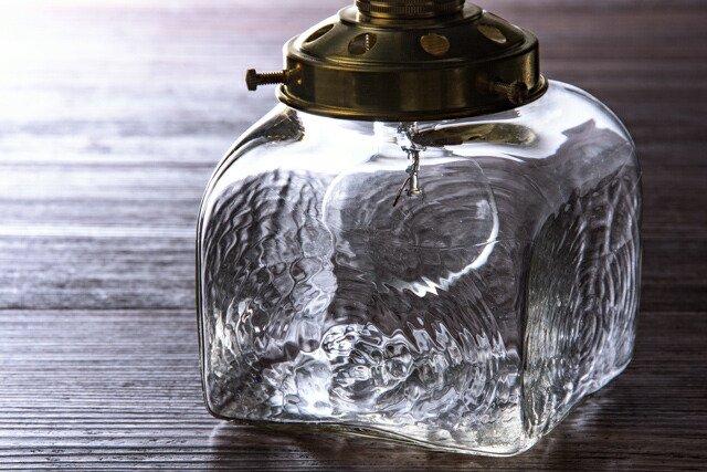 安土草多 吹きガラス ペンダントライト 角瓶 大 az-l09b