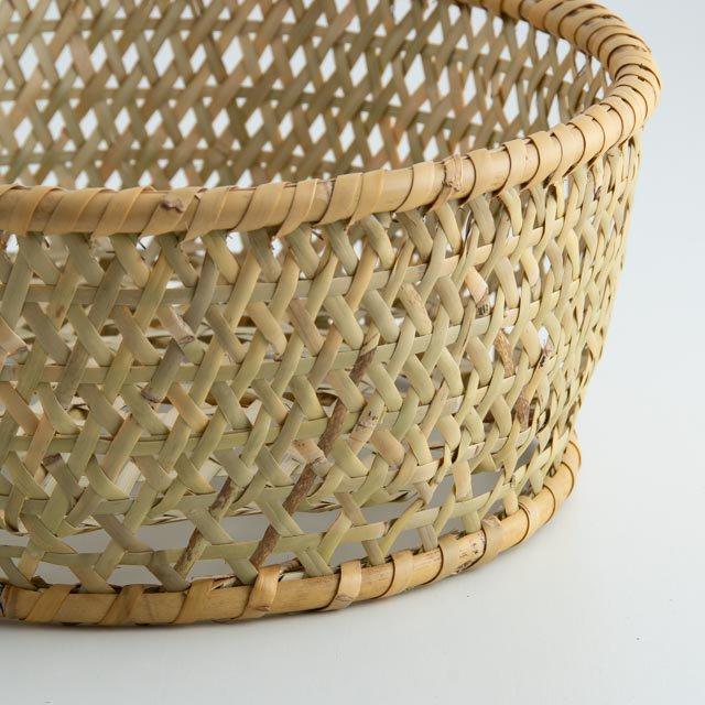 根曲り竹 椀かご 丸 大 長野