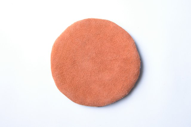 COTTLE ポットマット02 格子刺し子(大)×牛革 鍋敷き メール便対応