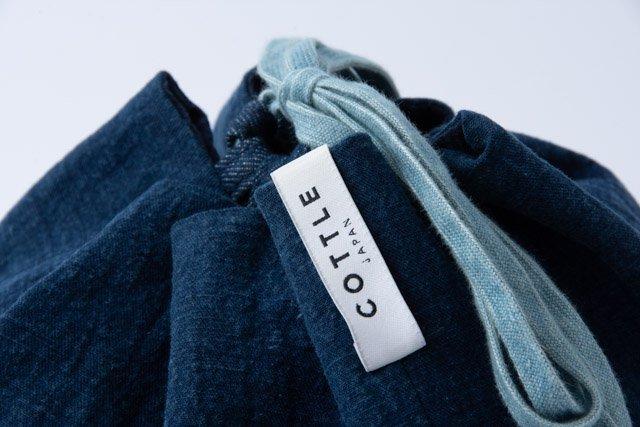 COTTLE 巾着バッグ02 本藍染め壱等雲斎
