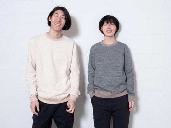 yohaku 余白 茶綿トレーナー キナリ T0001