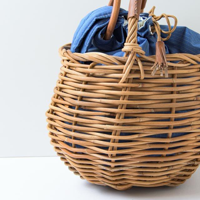 kargo 紅籐のかごバッグ 丸型01